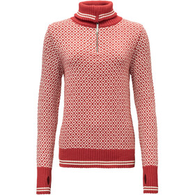 Devold Slogen Zip Neck Damen chilli